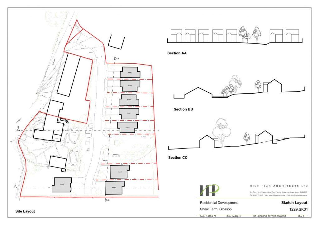 Farm Barn Drawing shaw farm barn, glossop – high peak architects